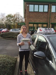 Well done Sophie for passing with GSI!