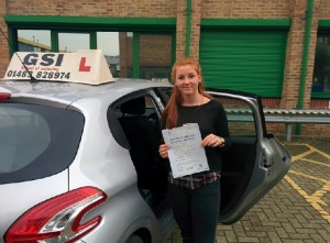 Well done Bethan for passing with GSI!